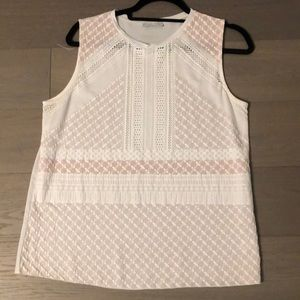 Zara White with Pink Tank Top Size M